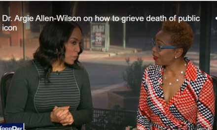Dr. Argie Allen-Wilson on how to grieve death of public icon-Fox29