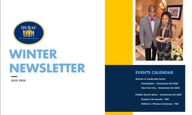 DUBAC- Drexel University Black Alumni Council: Winter Newsletter 2019-2020