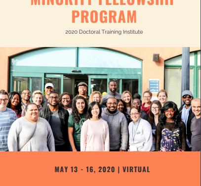 MINORITY FELLOWSHIP  PROGRAM- Webinar- May 13-16